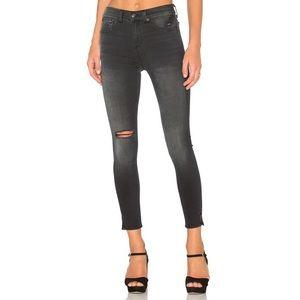 Rag & Bone Capri Slit Knee Ripped Crop Skinny Jean